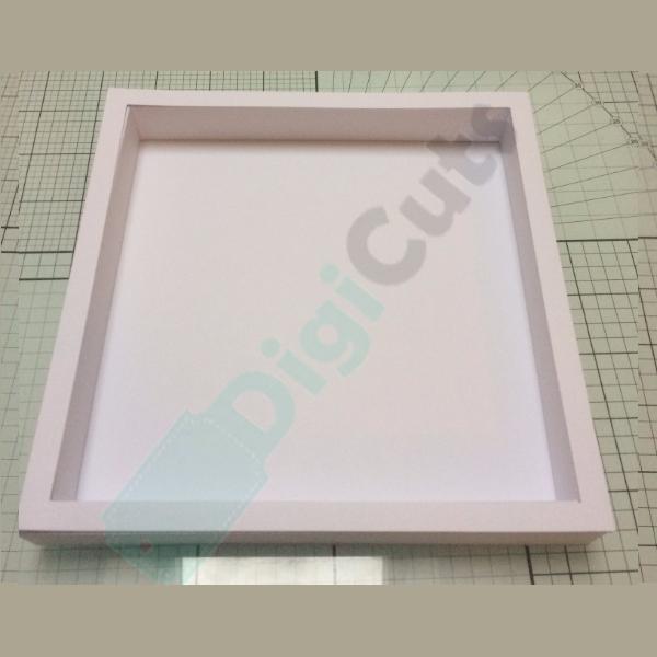7x7 shadow box frame svg and fcm cutting files digicuts. Black Bedroom Furniture Sets. Home Design Ideas