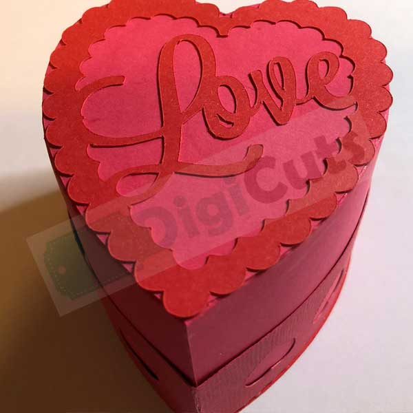Heart Gift Box Svg And Fcm Cutting Files
